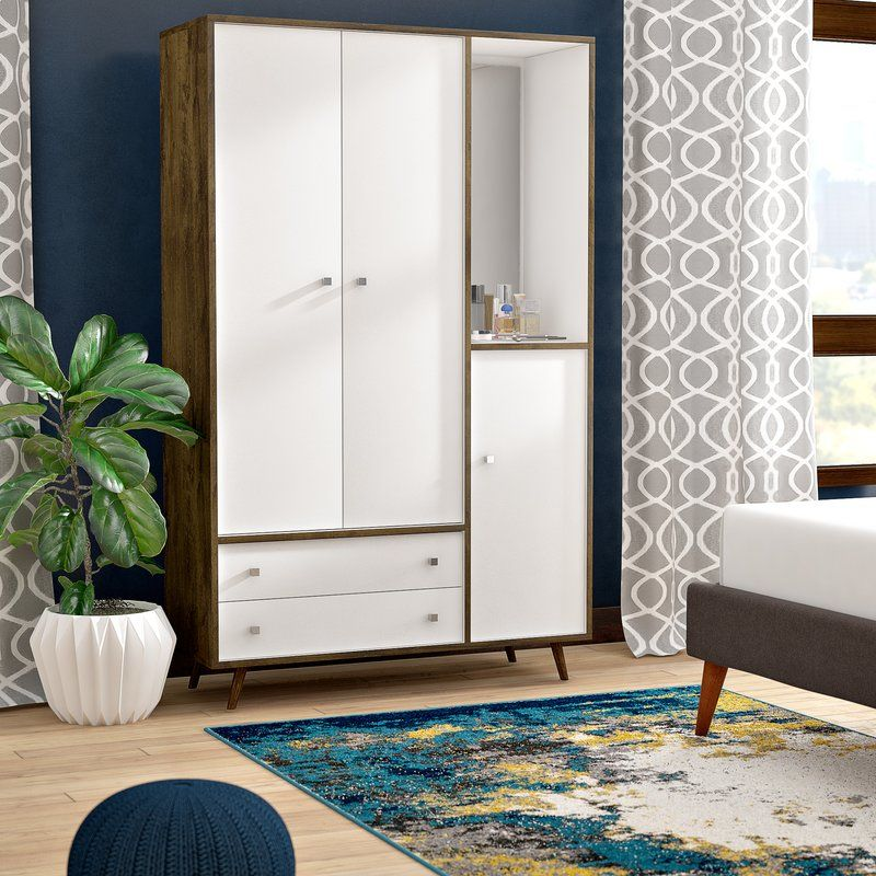 Best Mistana Oklee Wood Mid Century Modern Armoire Reviews 400 x 300