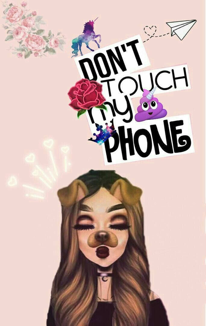 Don T Touch My Phone Papiers Peints Mignons Fond D Ecran Telephone Fond D Ecran Ado