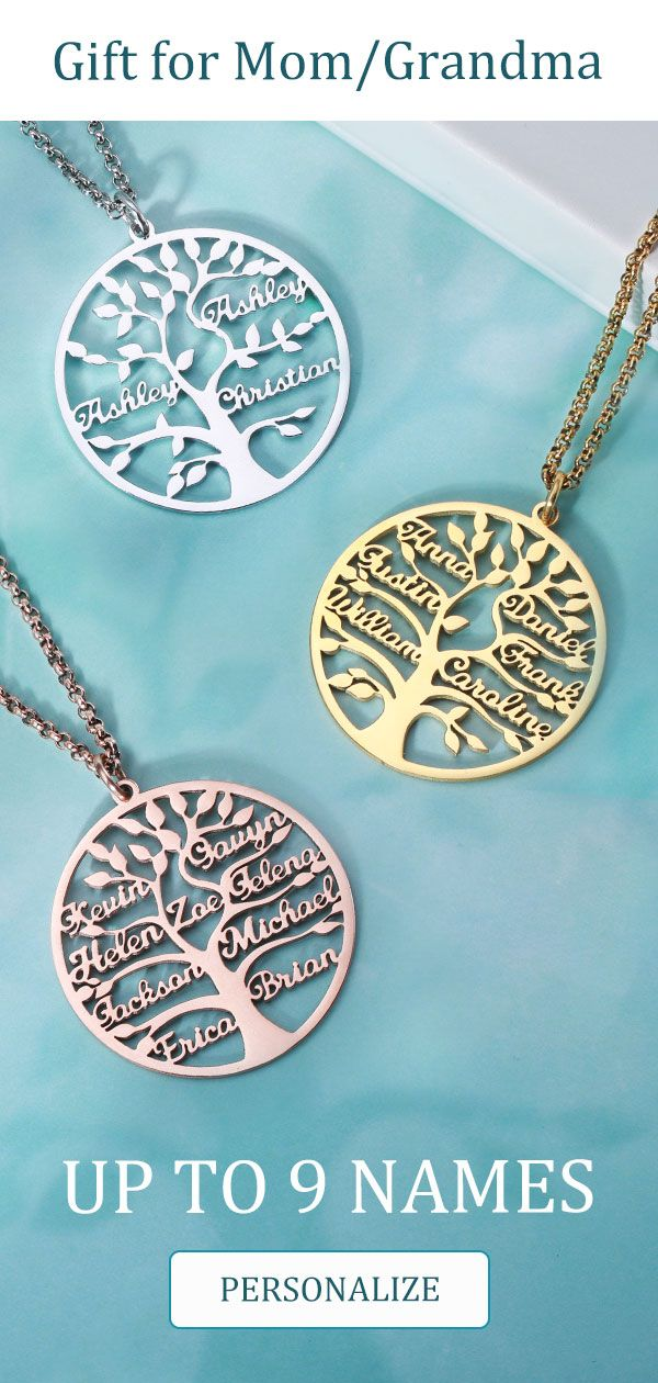 Up to 9 Names Family Tree Neckalce #kidshairaccessories