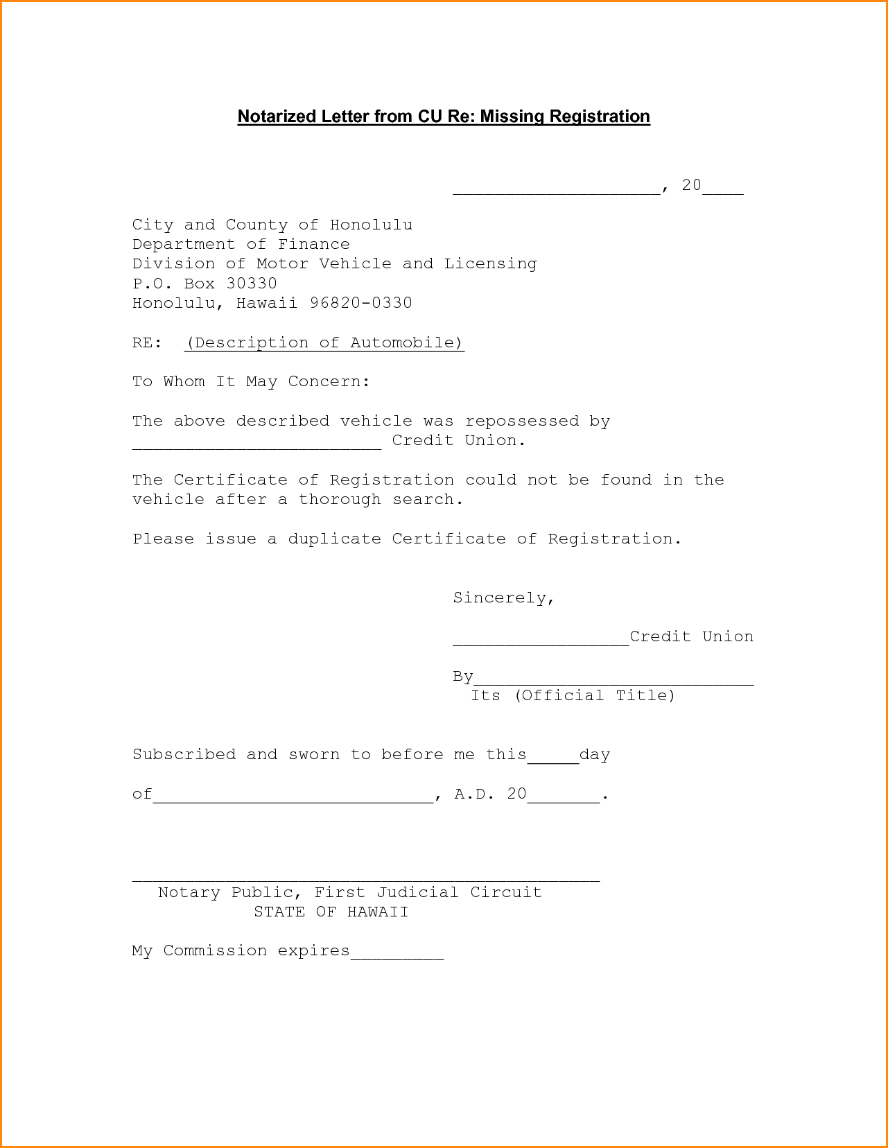 Notarized Letter Format Sample Letters Resignation Samples