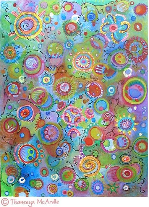 Whimsical Abstract Watercolor Pencil Art Http Www Art Is Fun Com