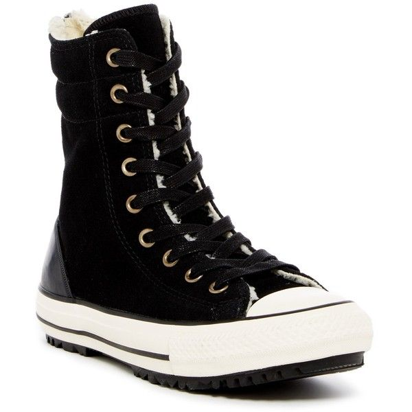 Converse Chuck Taylor Hi Rise Faux Shearling Lined Sneaker