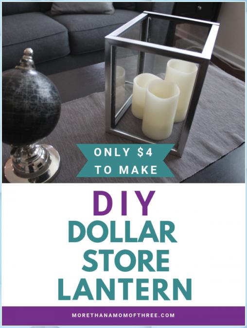 Dollar Tree DIY Lantern – Beautiful Frugal Home Decor #Dollar #Tree #DIY #Lantern #– #Beautiful #Frugal #Home #Decor