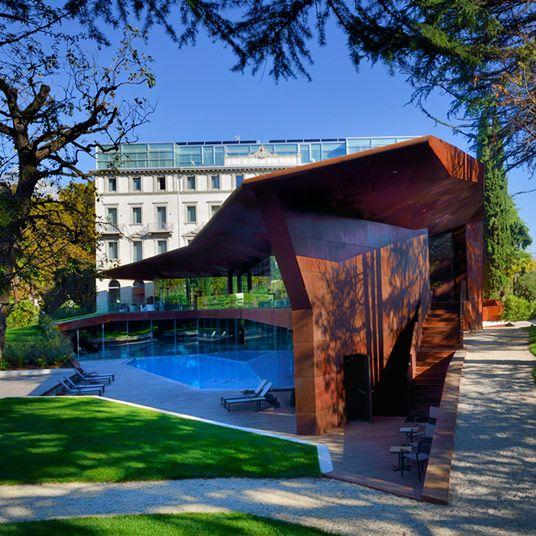 Lido Palace In Lake Garda Modern Hotel Hotels Design Lake Garda