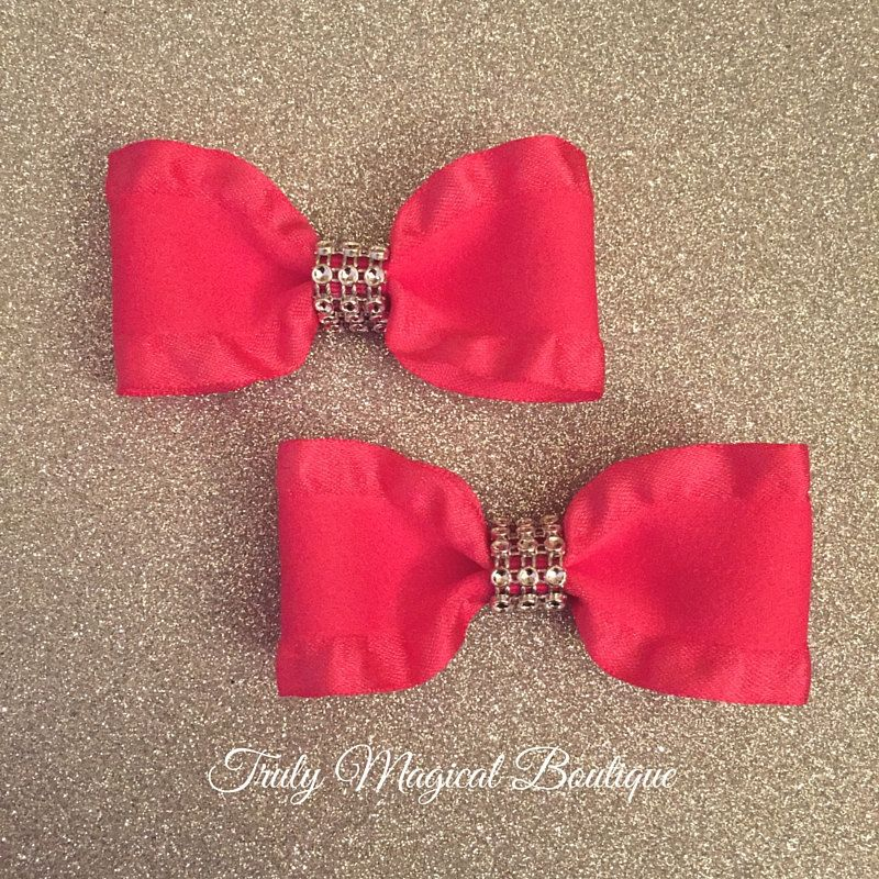 Hot Pink Hair Bows | Hot Pink Bow Tie Hair Bows | Pink Hair Clips | Hair Bow Set | Pigtail Hair Bows | Girls Hair Bows | Bow Tie Hair Bows by TrulyMagicalBoutique on Etsy
