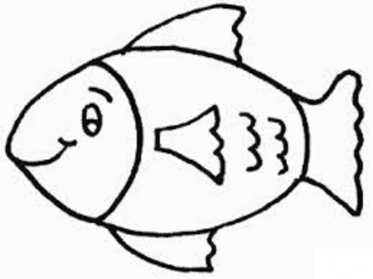 Fish Coloring Pages For Kids Preschool And Kindergarten Boyama
