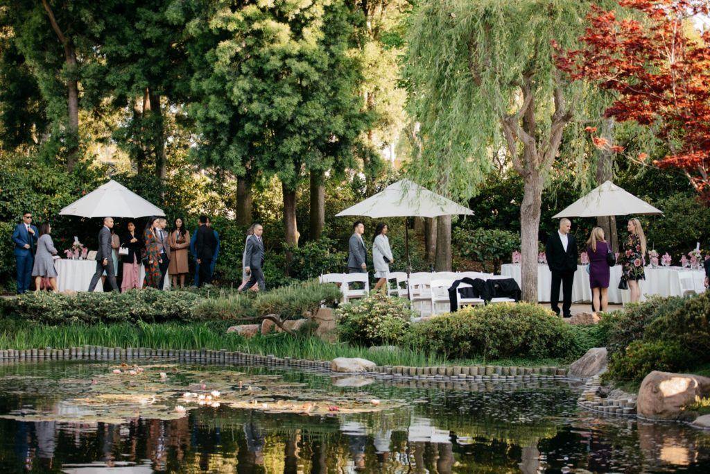 Earl Burns Japanese Garden in Long Beach Wedding with
