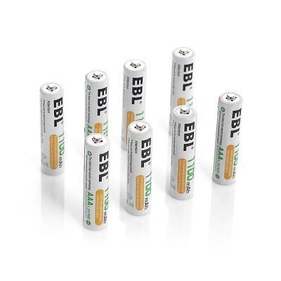 Ebl 8 Pack 1100mah Aaa Ni Mh Rechargeable Batteries Aaa Typical 1100mah Min