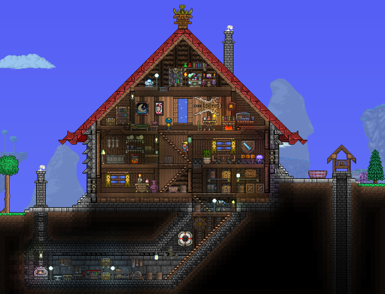 Terraria house terraria for Terraria house designs