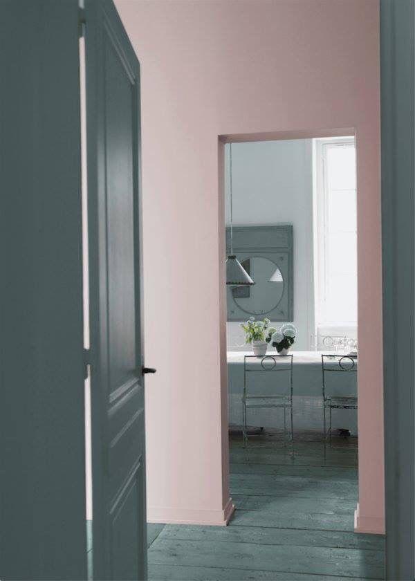 Rose pastel et gris décoration interieure Pinterest Décoration