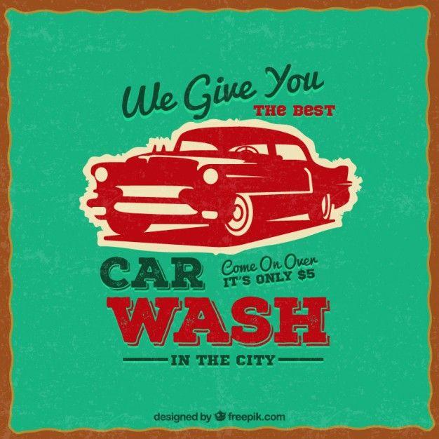 Car wash poster in retro style free vector asd pinterest car wash poster in retro style free vector solutioingenieria Choice Image