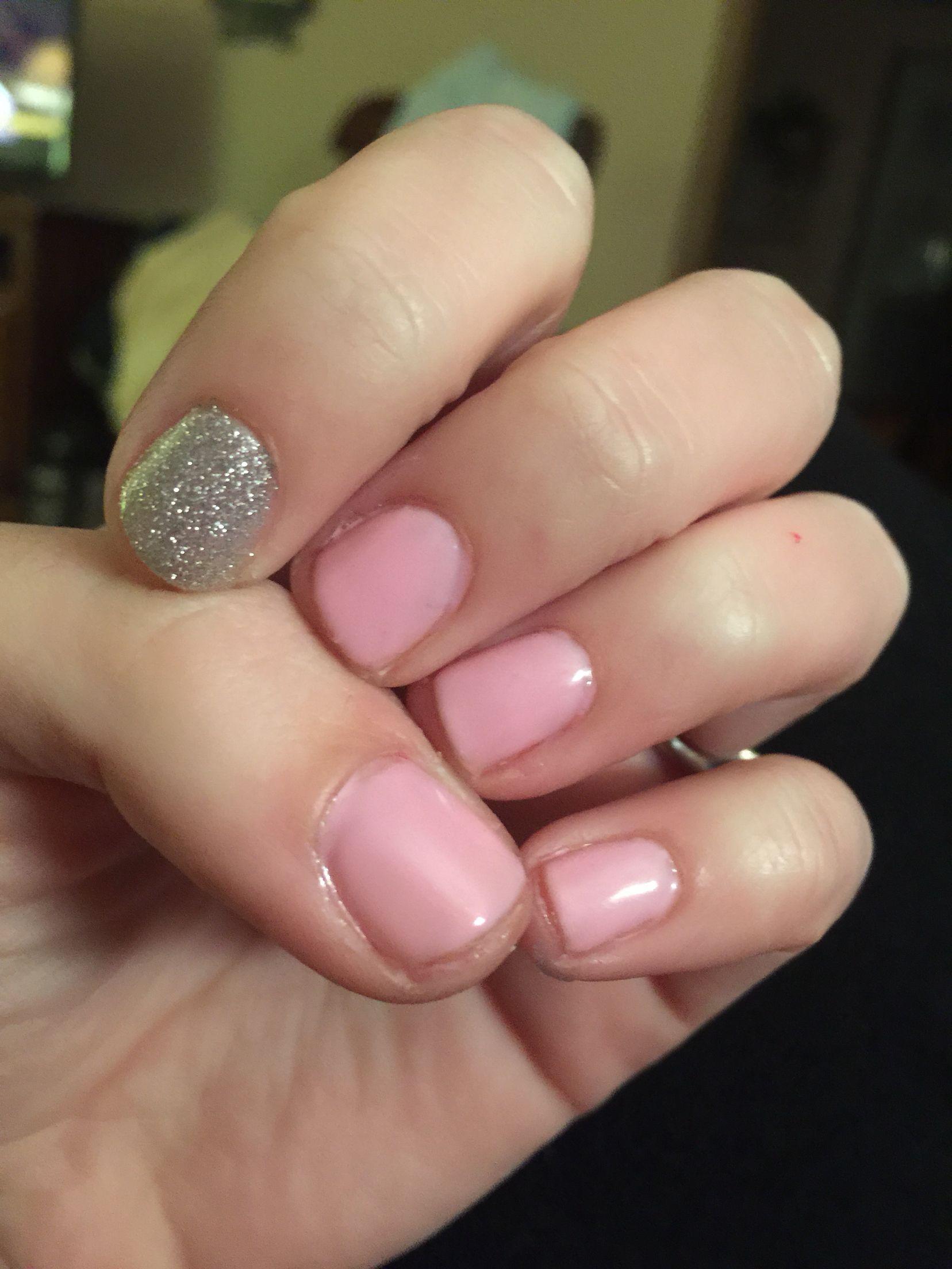 Sensationail pink chiffon and silver glitter | Nail Wraps/ my ...