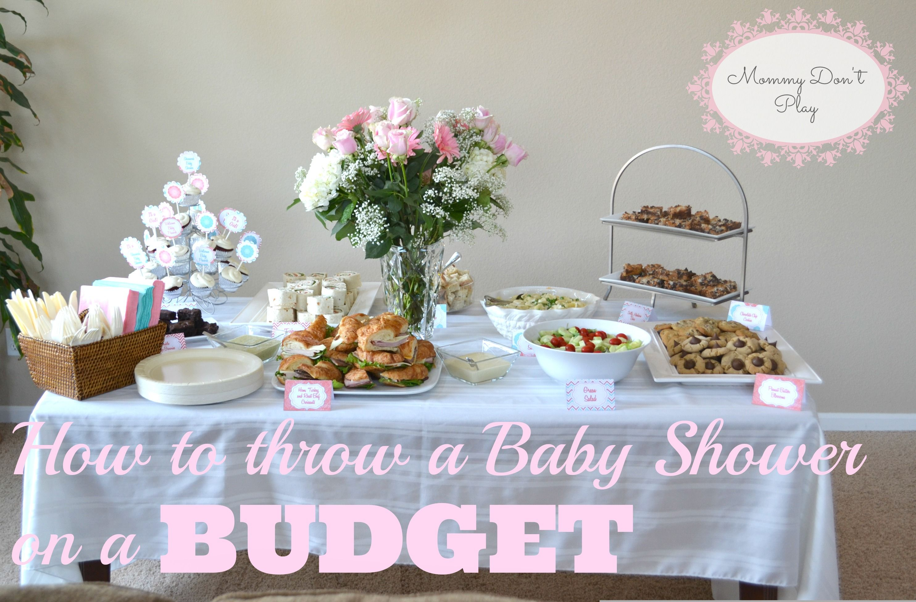 throwing a simple and elegant baby shower on a tight budget from mommy dont play