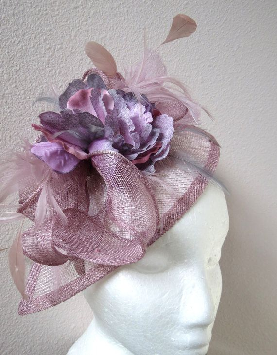 Lavender lilac fascinator - Mauve Wedding fascinator hat CREATION ... a74f5314fd0