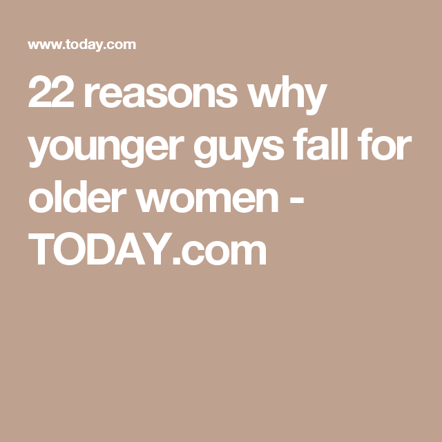 older woman younger man dating stories