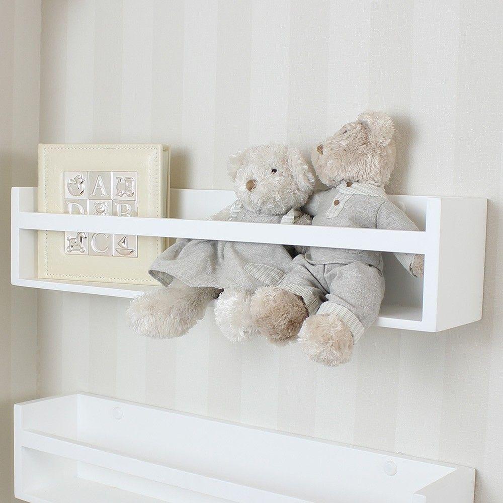 Prateleira Para Quarto De Beb Branca Para Livros Ambientada  ~ Enfeites Para Prateleiras De Quarto