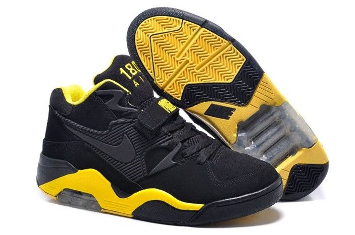 Cheap Nike Air Force 180 Mid Charles Barkley Black Yellow