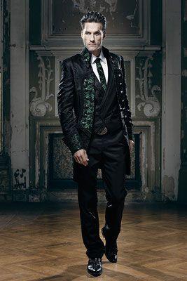 Extravaganter Hochzeitsanzug Gehrock Hochzeitsanzug Steampunk Kleider Kleidung Herren