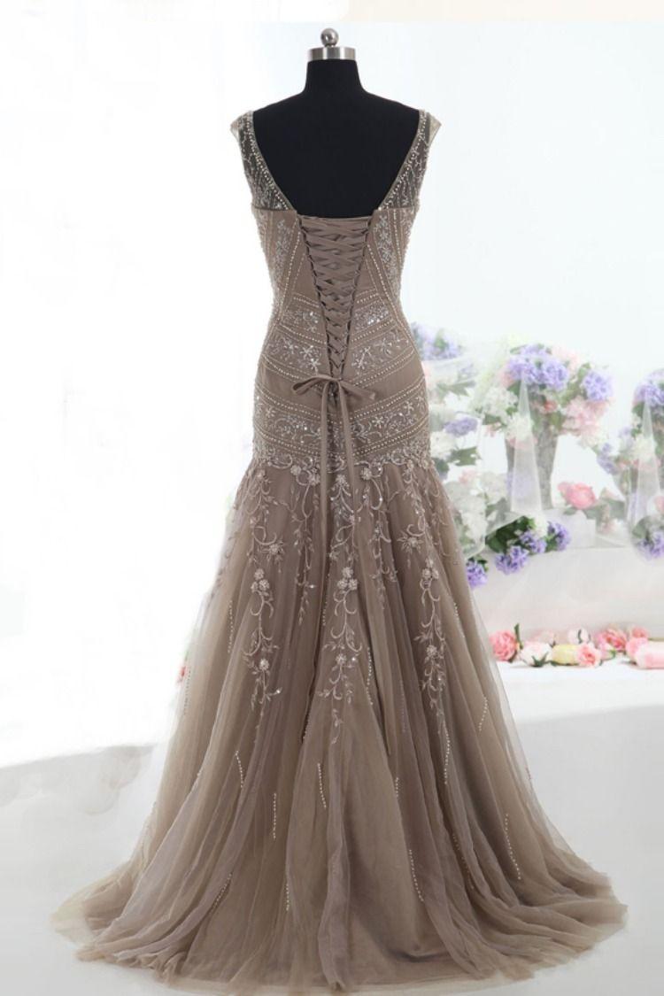 gorgeous mermaid brown long formal dress  e3ffd980921d