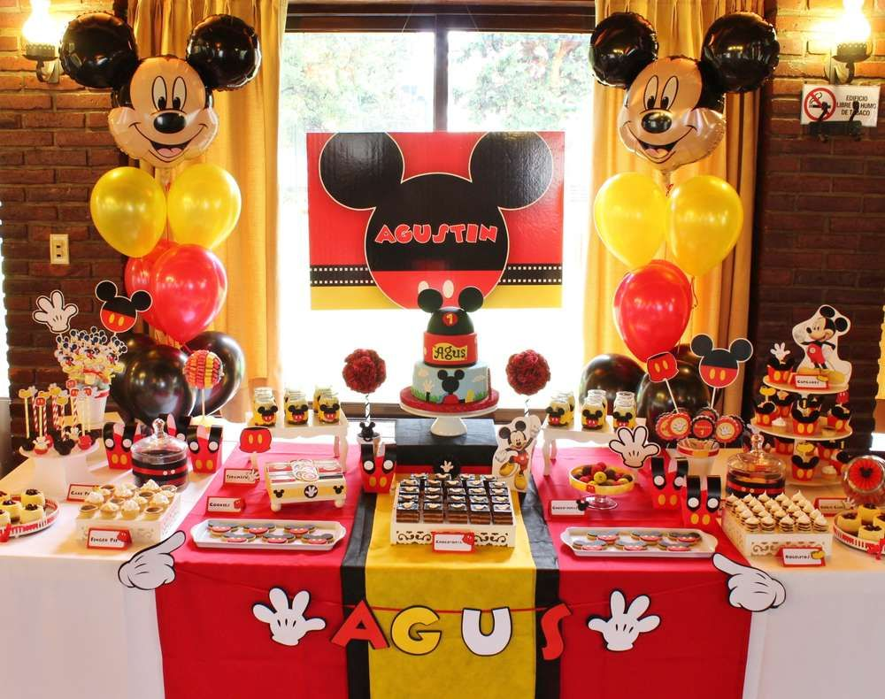 Mickey Mouse Baptism Party Ideas | Photo 17 of 18 | Catch My Party