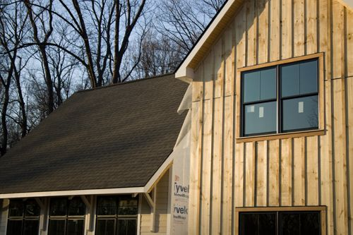 Board and batten siding home pinterest batten for Rustic board and batten homes
