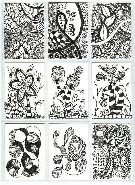 El Peregrino: Zentangle, arte para meditar | zentangles | Pinterest ...