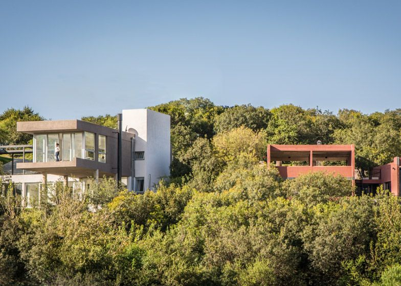House in Argentina sits above the treetops.