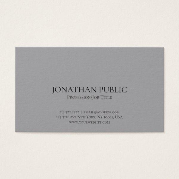 Professional modern elegant grey simple plain business card professional modern elegant grey simple plain business card reheart Gallery