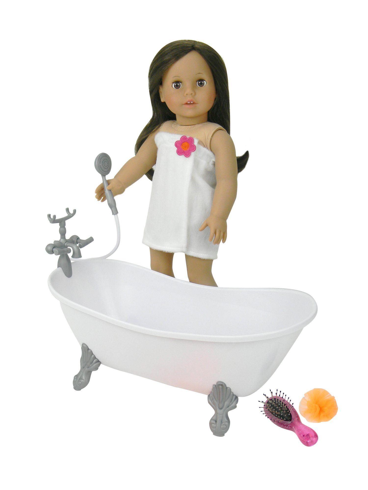 Amazon Com 18 Inch Doll Bathtub With Shower Fits American Girl Doll