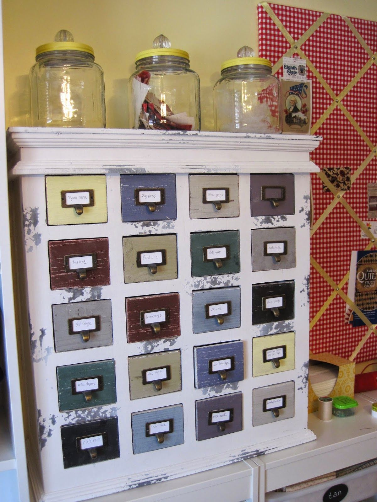 Apothecary Cabinet From Hobby Lobby. Perfect For Notions In My Sewing Room.