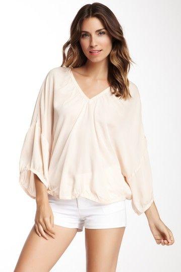 Silk Dolmen Sleeve Top by Tangerine on @HauteLook