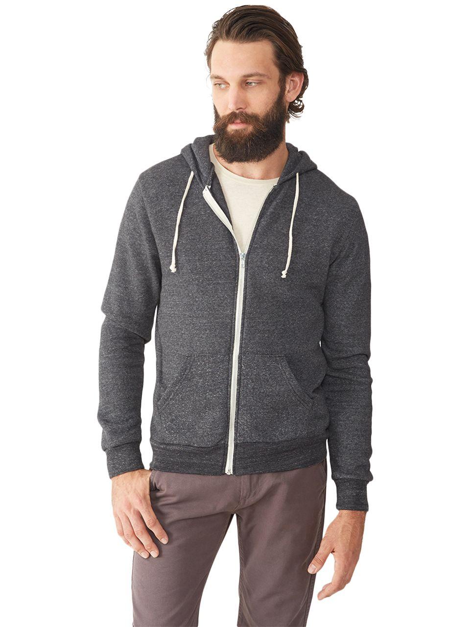 Alternative Men/'s Rocky Zip Hoodie Sweatshirt