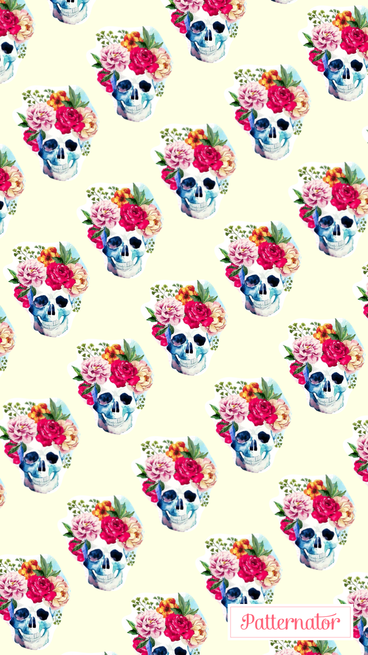 Pin by 👑QUEENBRYT👑 on Wallpaper Frenzy Skull wallpaper