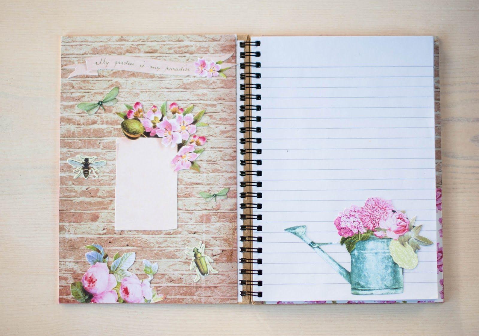 Como decorar una hoja de cuaderno imagui cuadernos - Como decorar cuadernos ...