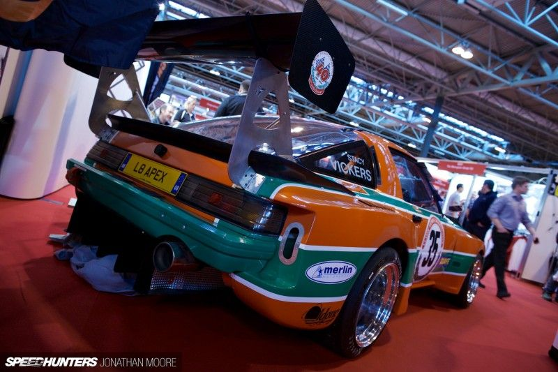 The 2014 Autosport International Racing Car Show at the Birmingham National Exhibition Centre, Rotary fans would have been happy to spot this RX7 racer. Owner Stacy Vickers is going to compete in Thunder Saloons with it during 2014 and the SA22C certainly looks the part.