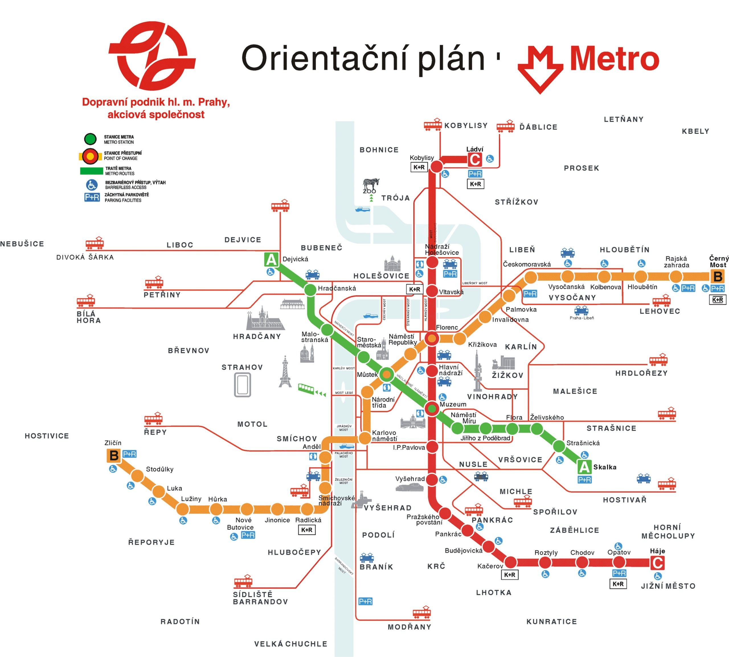 Prague Public Transport Map Prague Mappery M A P