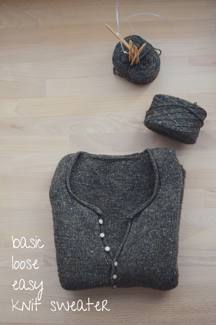 Simple quick easy knit pullover sweater for cozy season #knittinginspiration