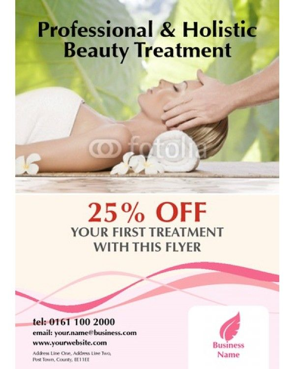 Beauty Salon A6 Leaflets Salon Graphics Pinterest Template