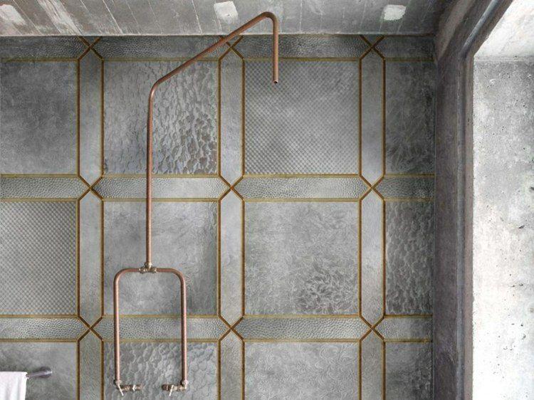 Papier peint pour salle de bain u2013 20 designs superbes par Wall \ Decò - carreaux de verre pour salle de bain