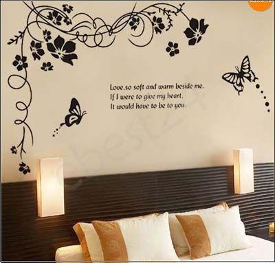 45 vinilos decorativos hermosos originales y modernos for Vinilos mariposas