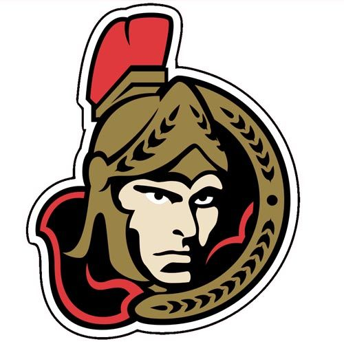 Ottawa Senators NHL Team Logo Printed Vinyl Sticker Free Of - Custom vinyl stickers ottawa