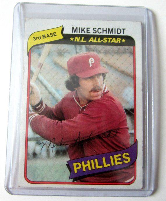 Mike Schmidt Philadelphia Phillies Team Baseball Card 1980