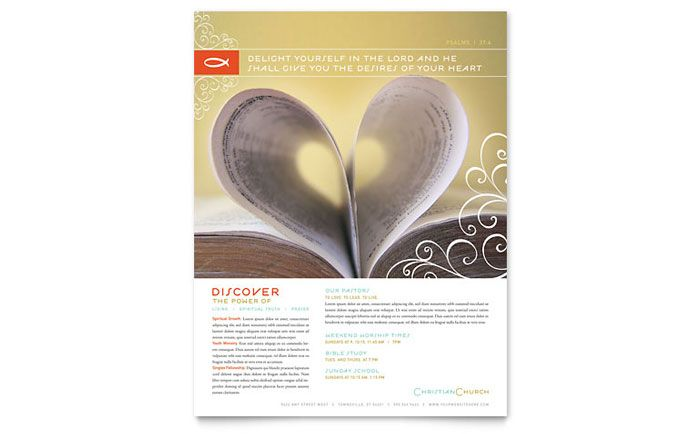 Christian Church Religious Flyer Template Design By Stocklayouts