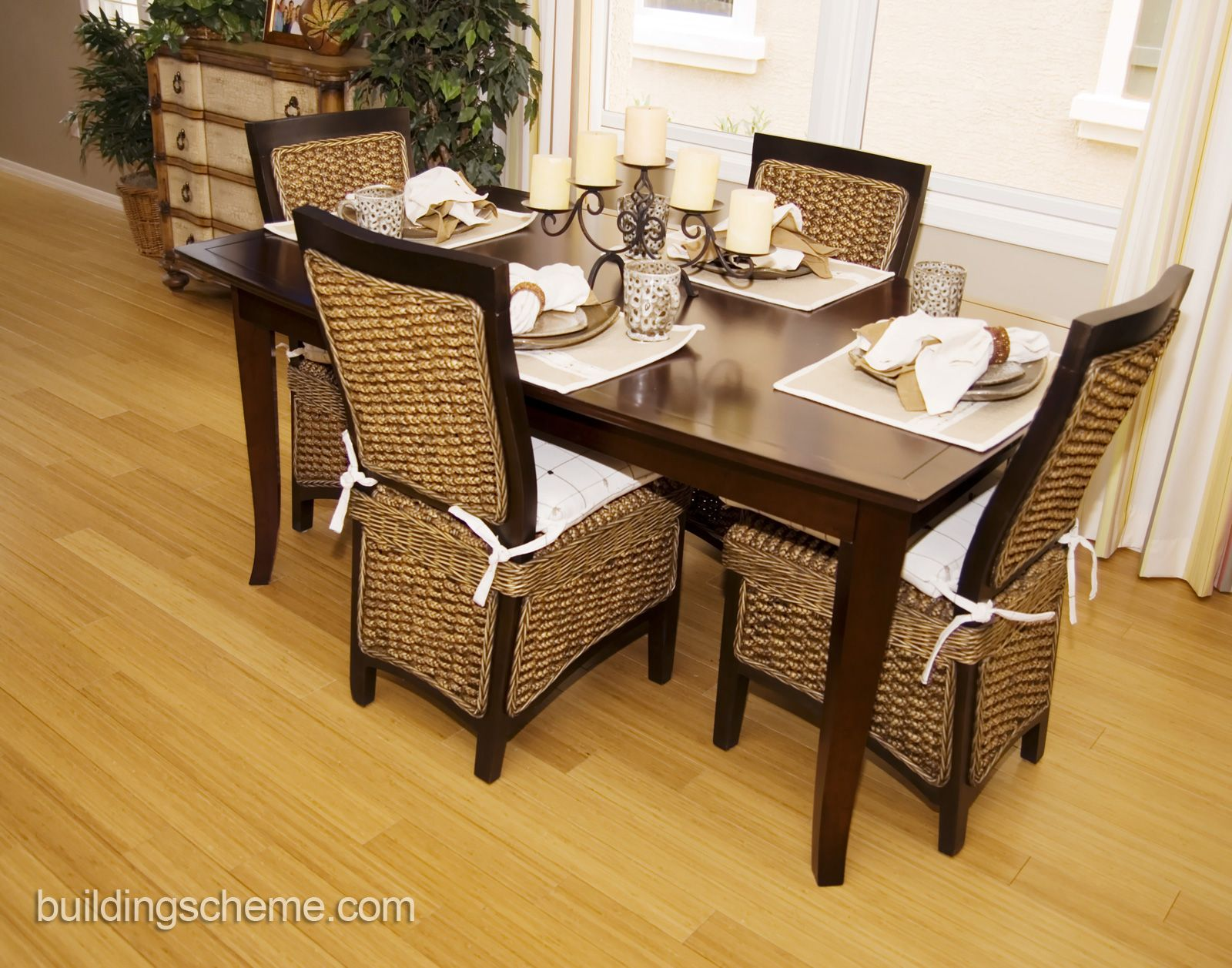 How To Reupholster A Dining Room Chair Beauteous Modern Dining Room Design With Mango Wood Dining Chairs And Glass Decorating Design