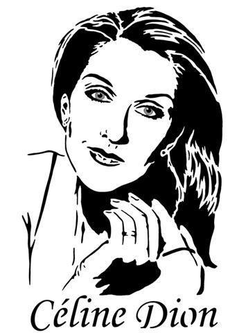 C 233 Line Dion Celine Pochoir Art Dessin Et Dessin