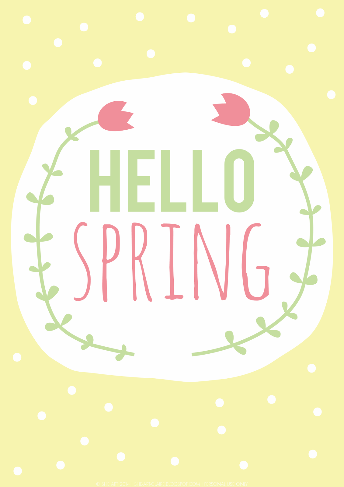 """""""hello spring"""" quote {free printable} 