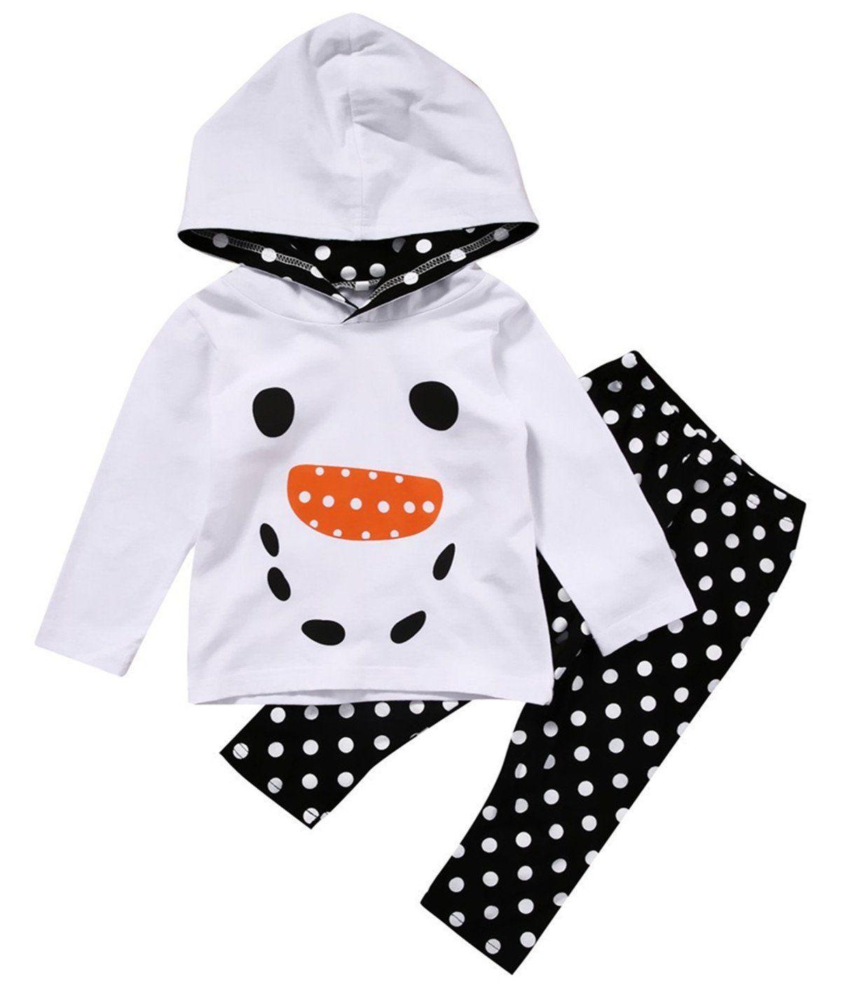 3d7818fb55fb Kids Baby Girls Fall Winter Cartoon Hoodie Sweatshirt+Dot Print ...