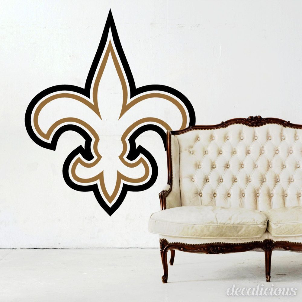 New Orleans Saints Die-Cut Vinyl Decal, Saints Decor, New Orleans ...