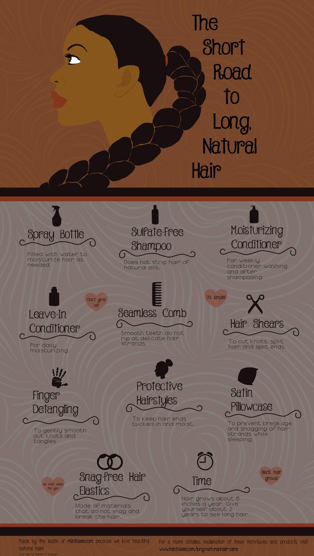 The Short Road to Long Natural Hair www.addisonrenee.com …