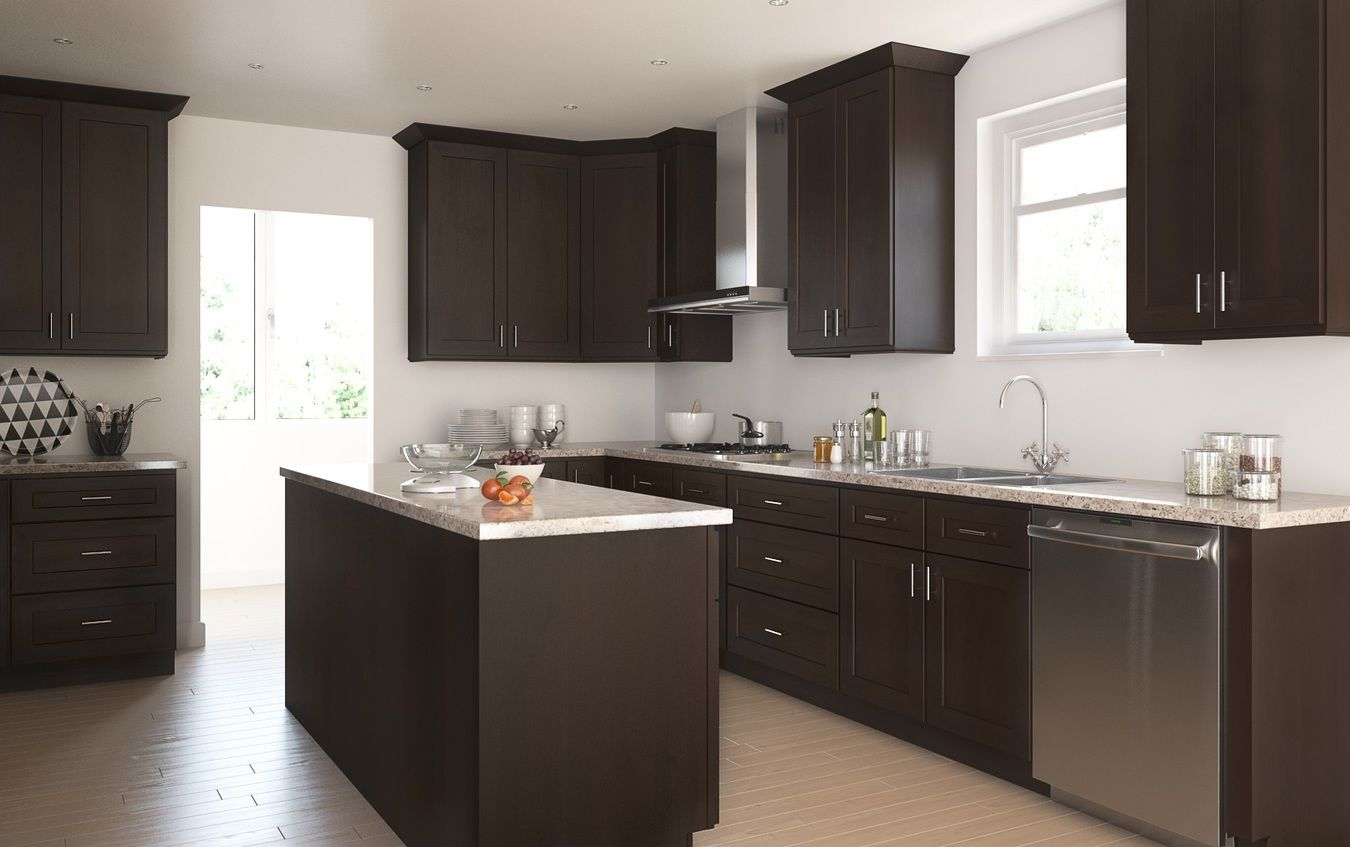 The Dark Chocolate Shaker Will Bring A Modern Touch To Any Kitchen With It S C Kitchen Cabinet Styles Assembled Kitchen Cabinets Kitchen Cabinet Styles White